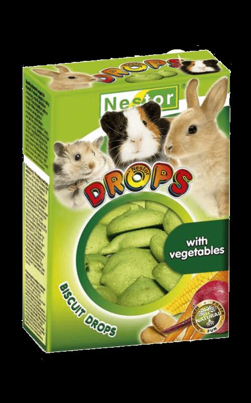 NESTOR Galletitas Drops verduras Conejos y Roedores 35g
