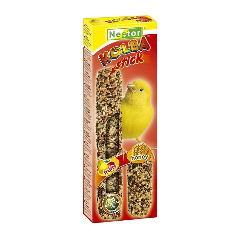 """NESTOR Stick clásico """"2 en 1"""" con miel/frutas Canarios 85g - 2 unid."""