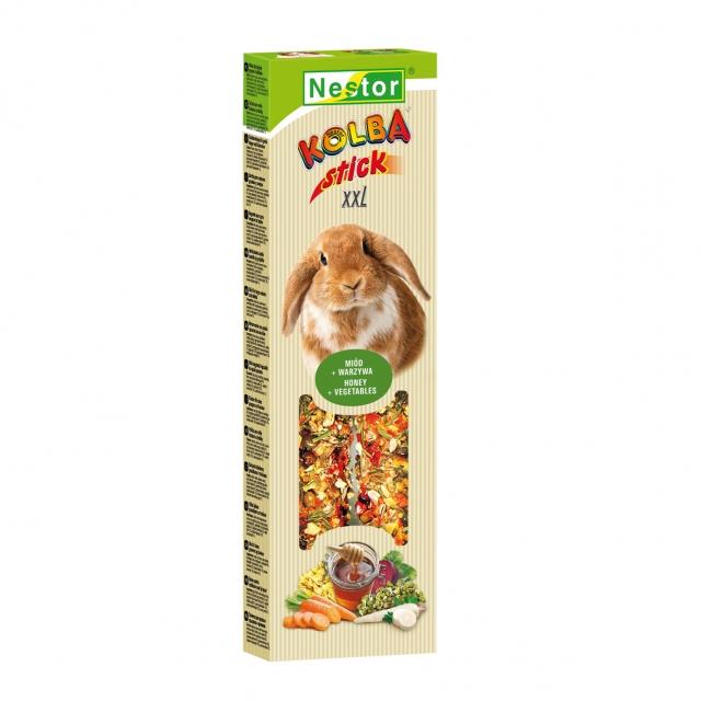 NESTOR Stick premium XXL con miel y verduras Conejos y Roedores grandes 150g - 2 unid.