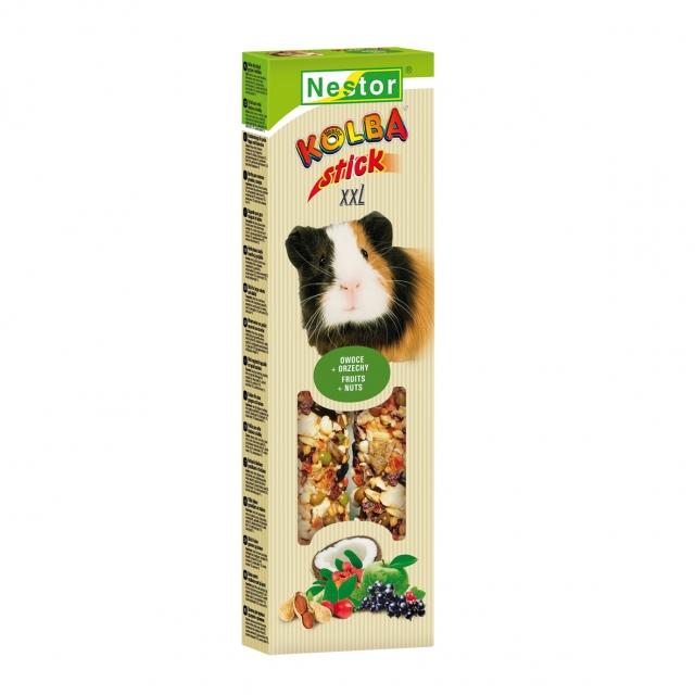 NESTOR Stick premium XXL con frutas y nueces Conejos y Roedores grandes 150g - 2 unid.