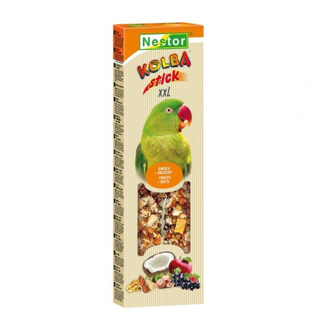 NESTOR Stick premium XXL con frutas y nueces Cotorras 150g