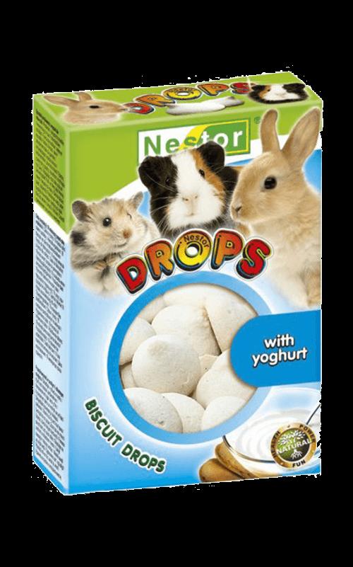 NESTOR Galletitas Drops yogur Conejos y Roedores 35g