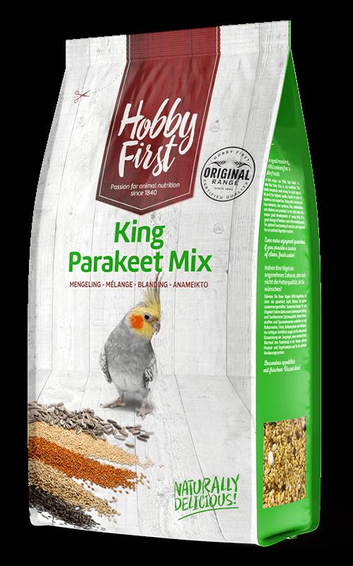 HOBBYFIRST King Parakeet Mix 1 kg Comida para Agapornis y Ninfas