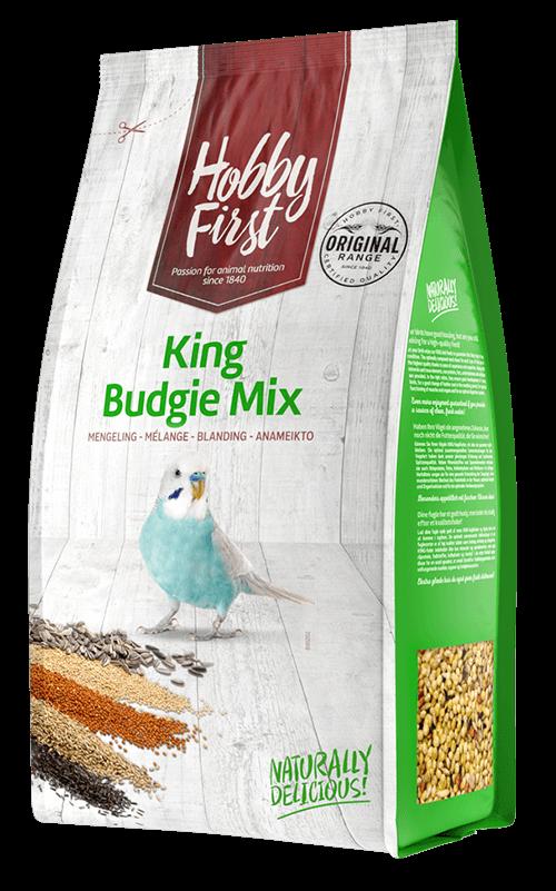 HOBBYFIRST King Budgie Mix 1 kg Comida para Periquitos
