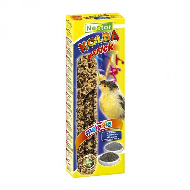 NESTOR Stick clásico con semillas amapola y negrillo Canarios 85g - 2 unid.