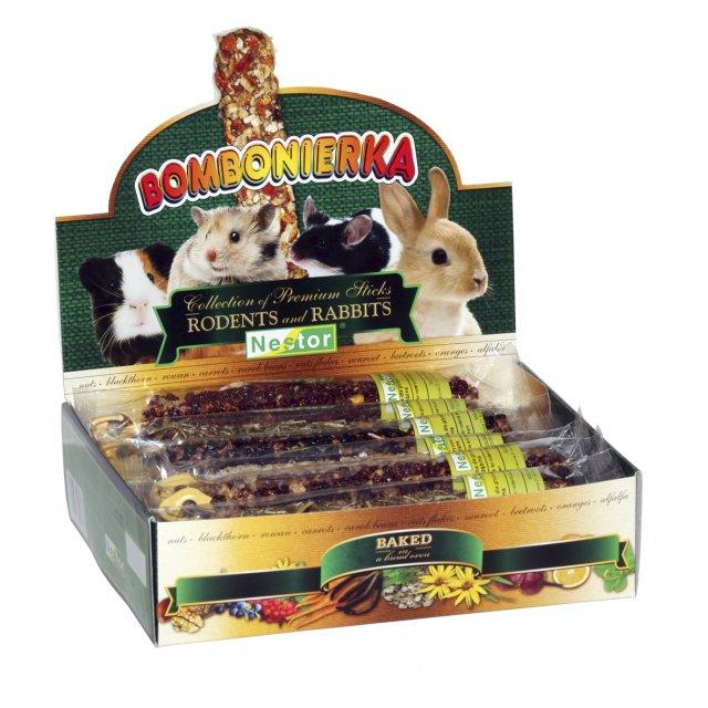 NESTOR Colección Sticks premium para Conejos y Roedores - 12 unid., sabores variados