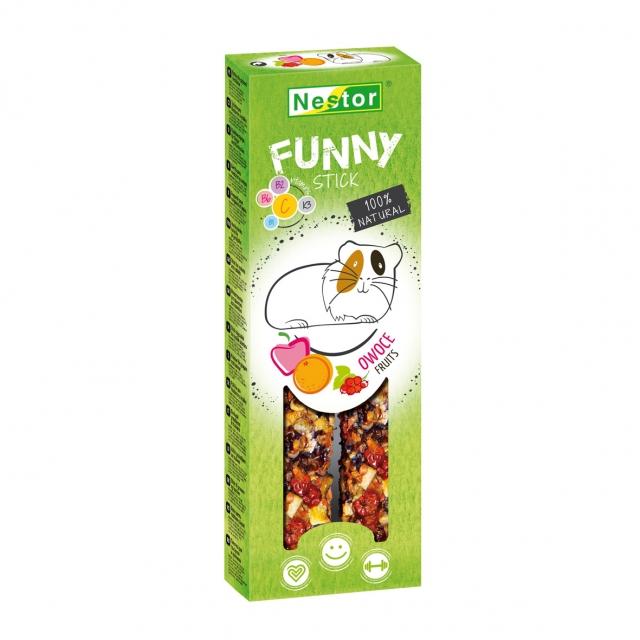 NESTOR Stick FUNNY con frutas Conejos y Roedores 115g - 2und