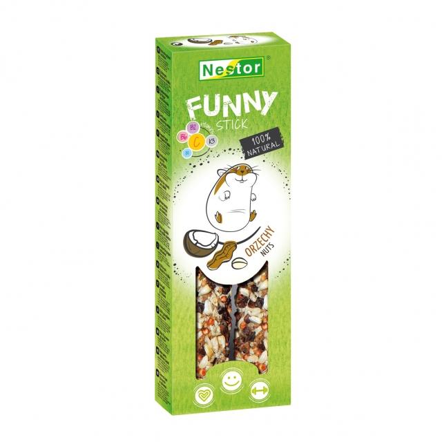 NESTOR Stick FUNNY con nueces Conejos y Roedores 115g - 2und