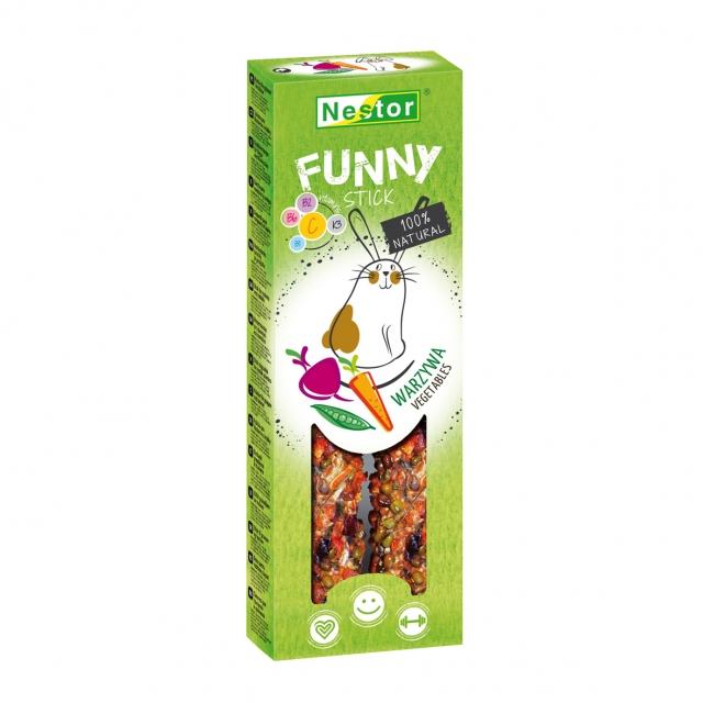 NESTOR Stick FUNNY con verduras Conejos y Roedores 115g - 2und