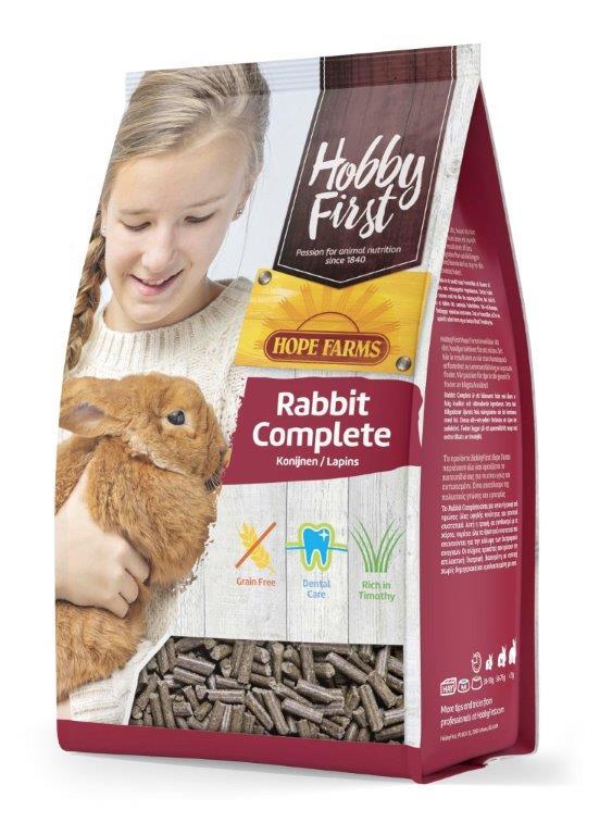 HobbyFirst HOPE FARMS Rabbit Complete 3 kg Pienso para Conejos