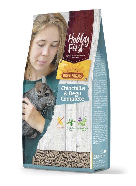HobbyFirst HOPE FARMS Chinchilla - Degu Complete 1,5 Kg.