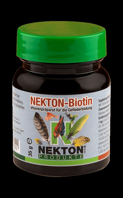NEKTON-Biotin 35g Preparado multivitamínico especial para el desarrollo del plumaje en aves