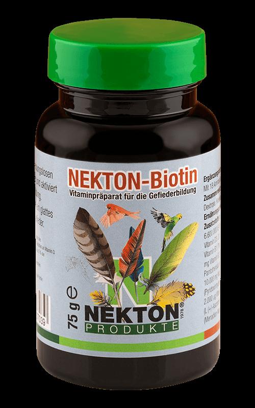 NEKTON-Biotin 75g Preparado multivitamínico especial para el desarrollo del plumaje en aves