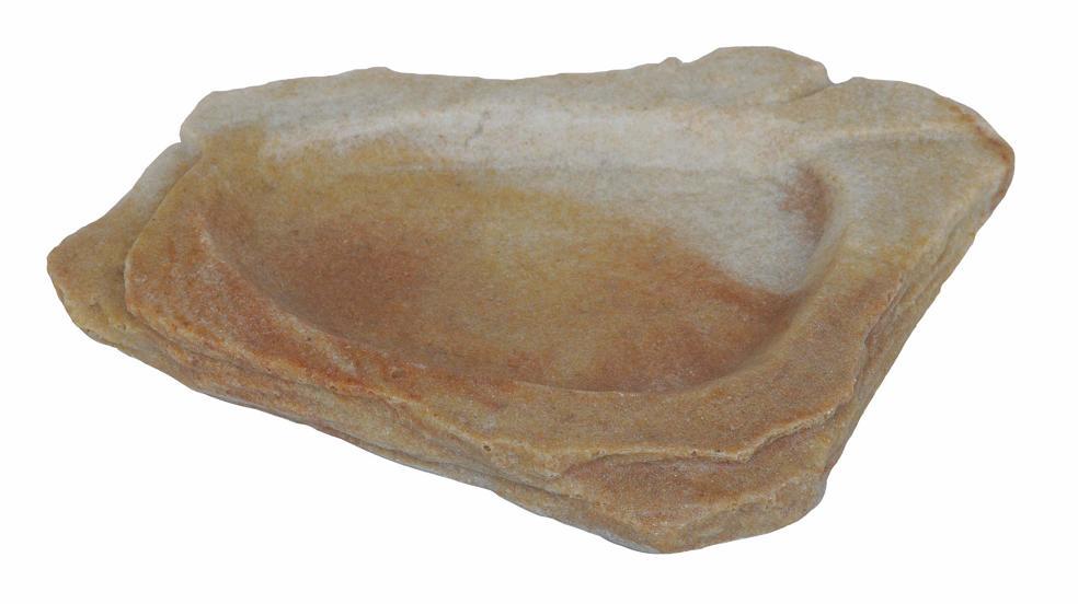 Cuenco de esquina pequeño en roca Sand Stone