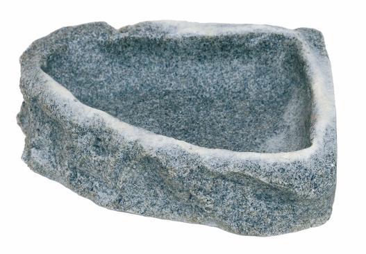 Cuenco-esquina mediano en roca Sand Stone 500ml 16,5x16,5x4cm