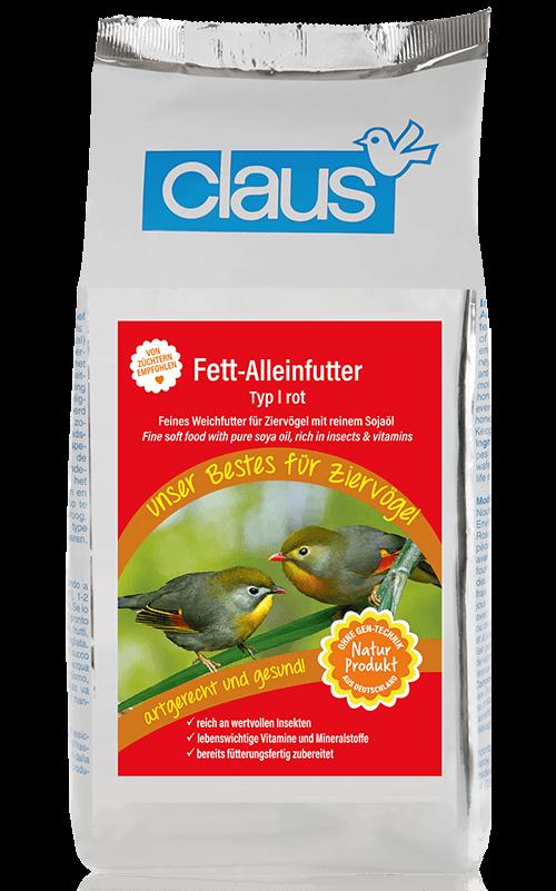 CLAUS Alimento blando con aceite Tipo I Rojo para ruiseñores, pinzones, etc. 500 g