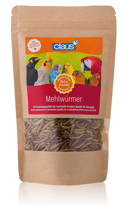 CLAUS Gusanos de la harina deshidratados para pájaros 75 g