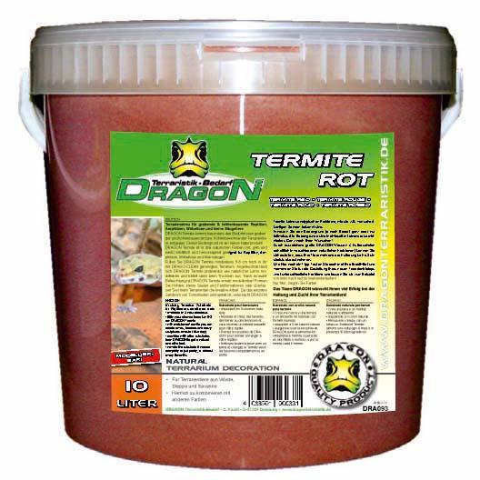 Termite Sand roja 10 l en cubo Dragon