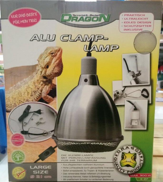 ALU CLAMP-LAMP Large Ø 21cm - max. 300w