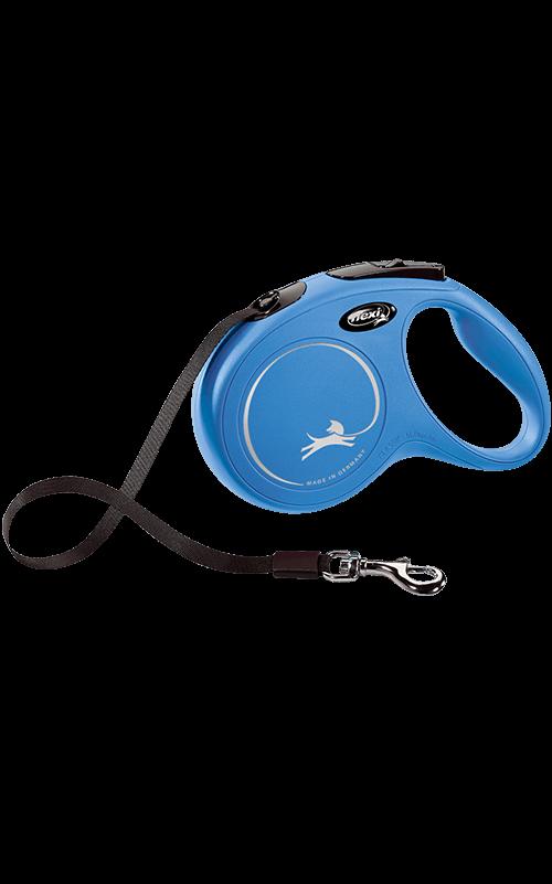 Flexi New Classic cinta XS Azul Correa extensible para Perros