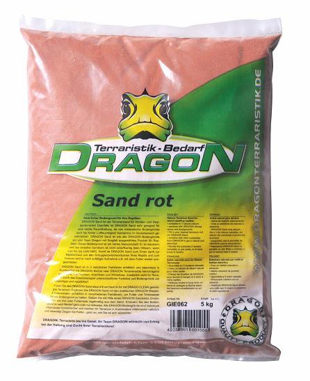 Sand roja 5kg sin polvo, apta para acuarios, Dragon