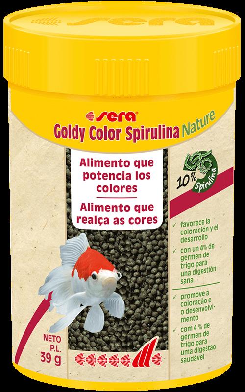 SERA Goldy Color Spirulina 100ml (alimento peces agua fría, en escamas)