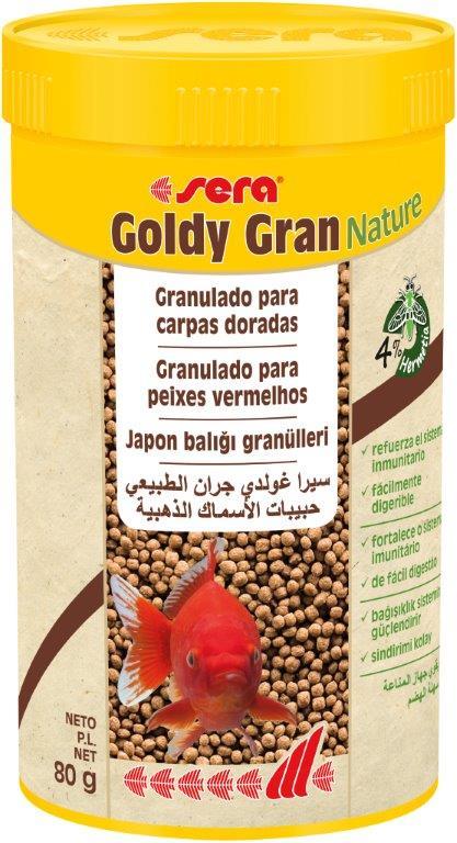 SERA Goldy Gran Nature 250ml (alimento peces agua fría, granulado)