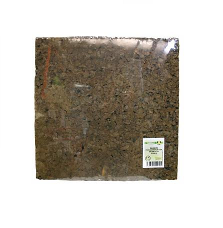 Placa de corcho prensado negra 2 piezas 50 x 50 x 2cm