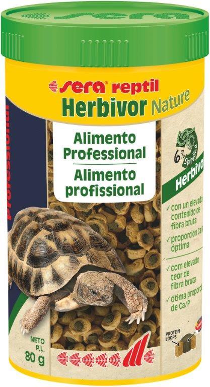 SERA Reptil Professional Herbivor Nature 250ml ( Alimento base equilibrado tortugas acuáticas)
