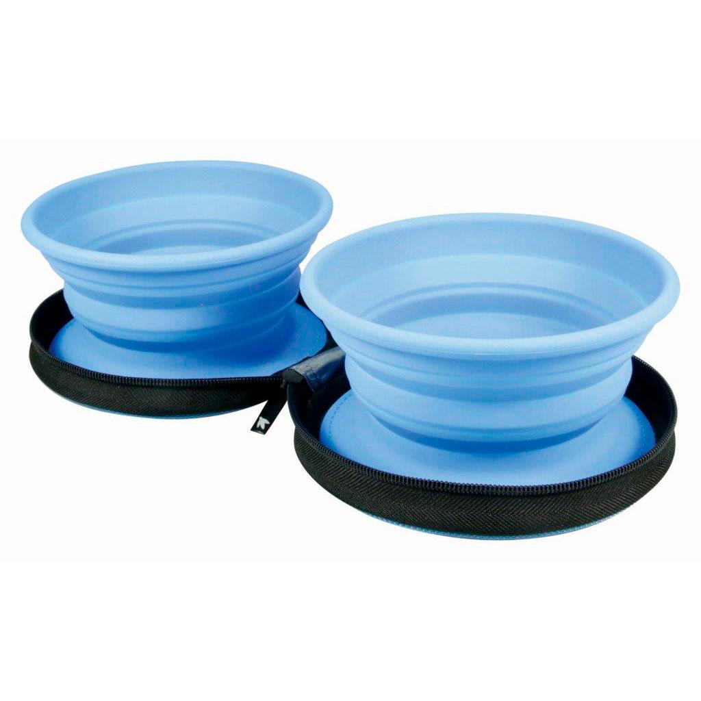 KIWI WALKER Recipiente doble para viaje 700 ml Azul