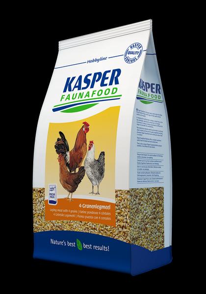 KASPER FAUNAFOOD Pienso Puesta 4 Cereales (Harina) Gallinas 4 Kg.
