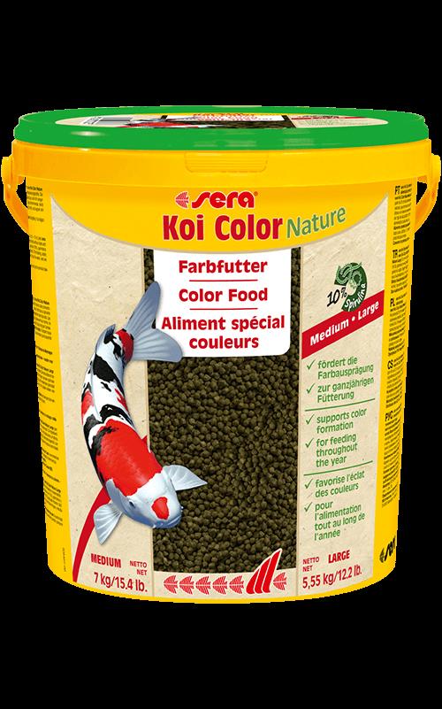 SERA Koi Color Large 21L (6mm, con espirulina, etc, favorece el color)