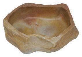 Cuenco llano grande en roca Sand Stone 1250 ml - 30x28x5 cm