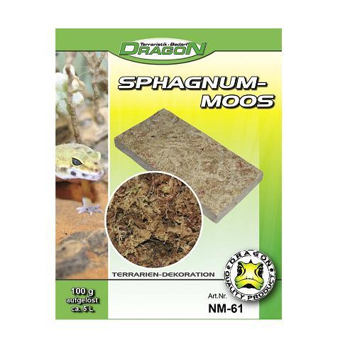 Sphagnum-Moos Natural 100 gr. Brick