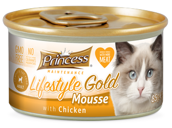 PRINCESS Lifestyle Gold Mousse Pollo 85g Comida húmeda para gatos