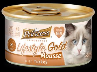 PRINCESS Lifestyle Gold Mousse Pavo 85g Comida húmeda para gatos