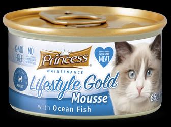 PRINCESS Lifestyle Gold Mousse Pescado Oceánico 85g Comida húmeda para gatos