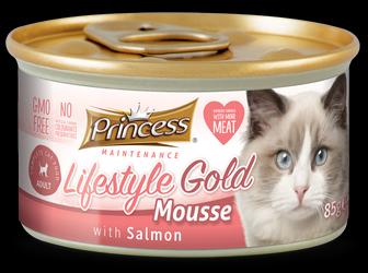 PRINCESS Lifestyle Gold Mousse Salmón 85g Comida húmeda para gatos