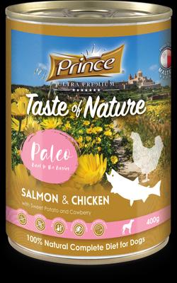 PRINCE Paleo Salmón y Pollo con Batata y Arándanos 400g