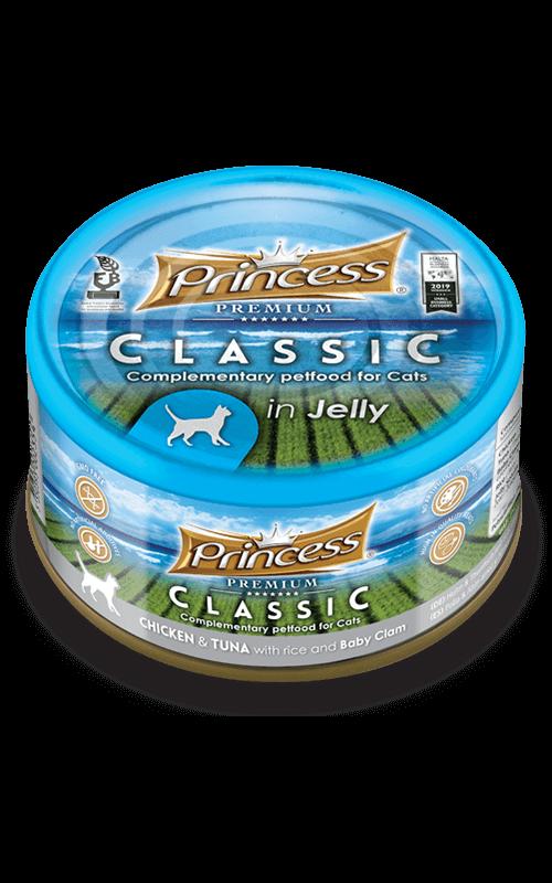 PRINCESS Classic Pollo y Atún con Arroz y Almejas 170g Comida húmeda para gatos