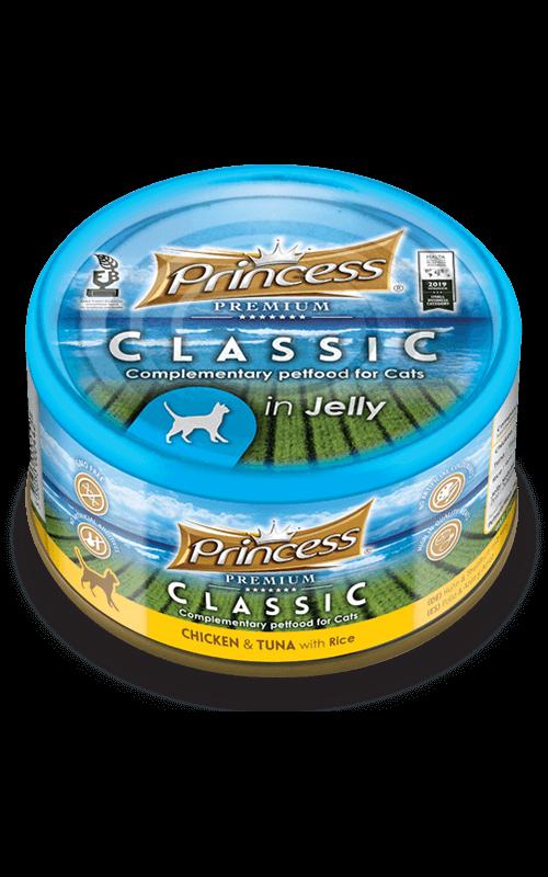 PRINCESS Classic Pollo y Atún con Arroz 170g Comida húmeda para gatos
