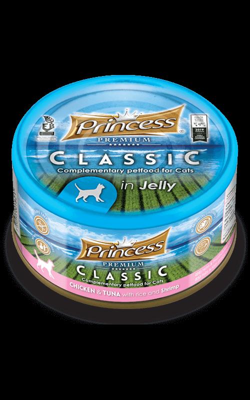 PRINCESS Classic Pollo y Atún con Arroz y Gambas 170g Comida húmeda para gatos
