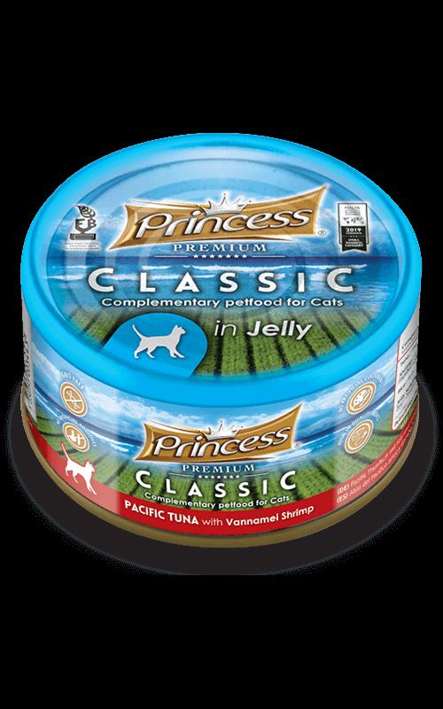 PRINCESS Classic Atún del Pacífico con Arroz y Gamba Vannamei 170g Comida húmeda para gatos