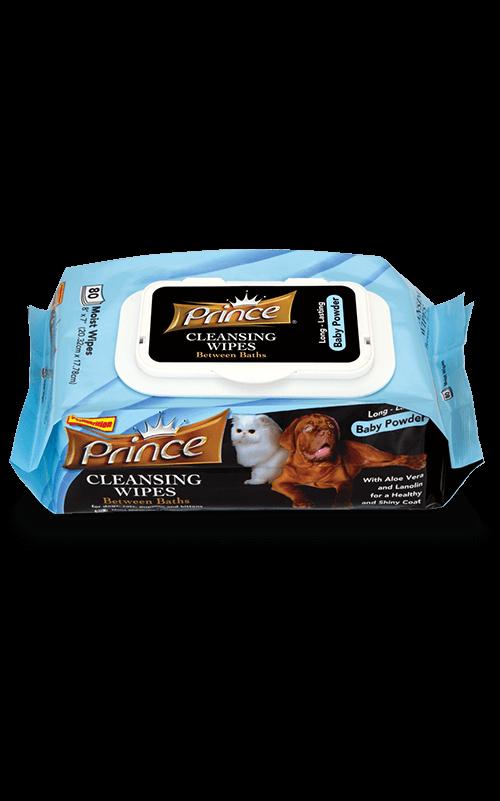 PRINCE Baby Powder Toallitas húmedas para Perros y Gatos
