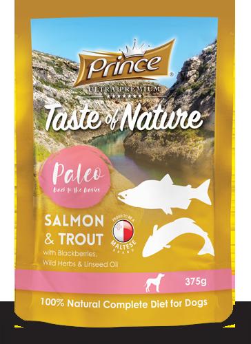 PRINCE Paleo Salmón y Trucha 375g Comida húmeda para Perros