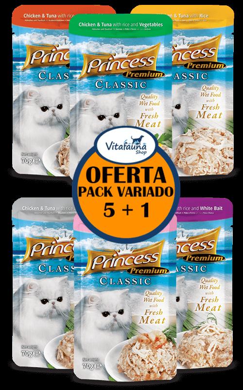 PRINCESS Premium 70g Comida húmeda para gatos  // PACK SABORES 5+1