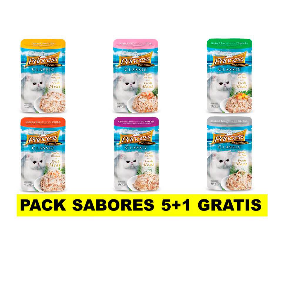 PRINCESS Classic 70g // PACK SABORES 5+1