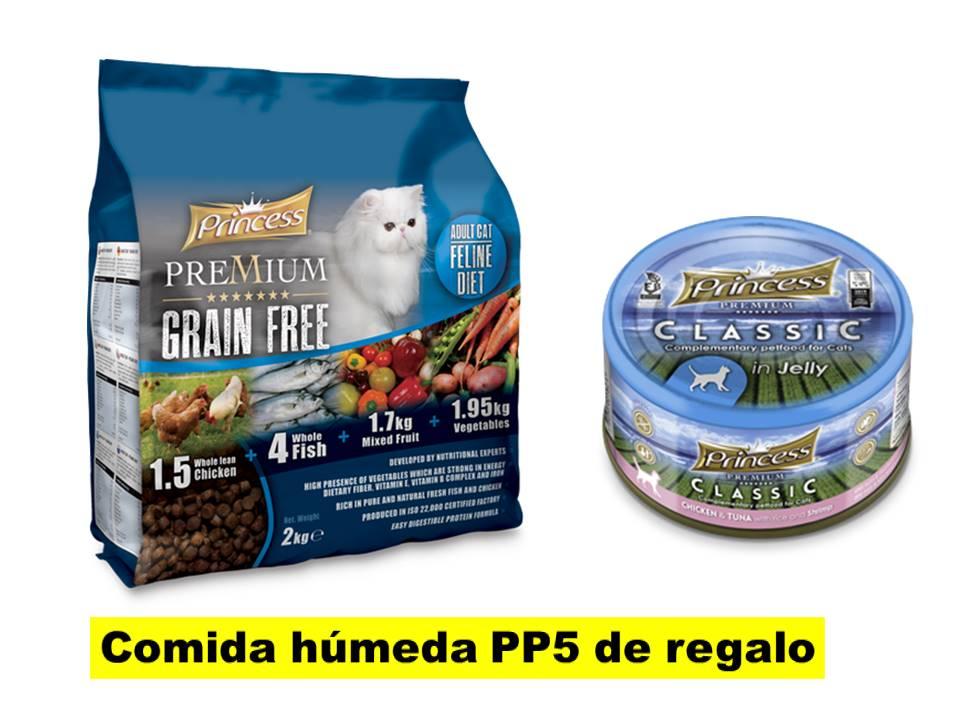 PRINCESS Premium Grain Free Cat 2 Kg // PACK CON PP5 GRATIS