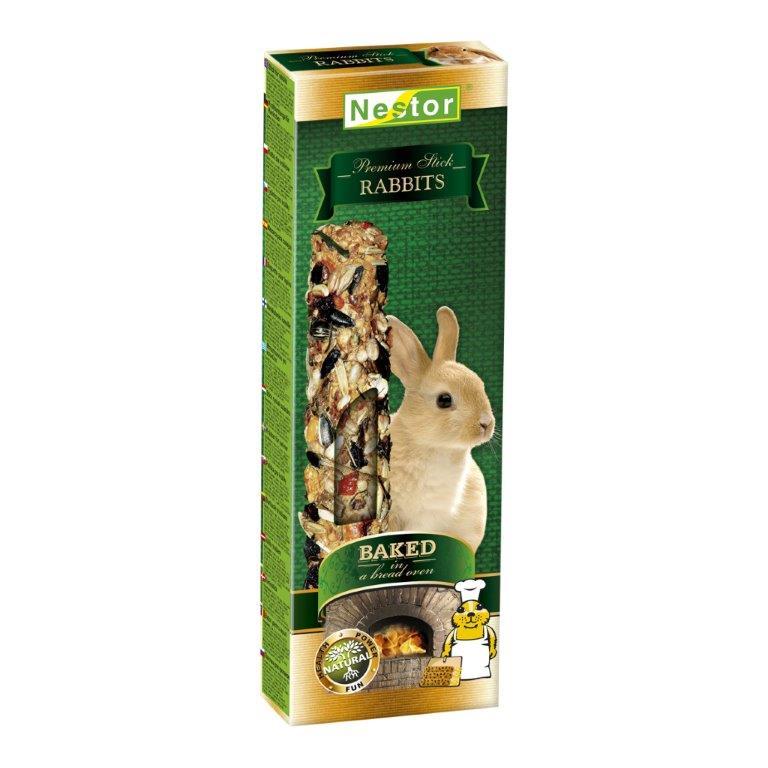 NESTOR Stick Premium Conejos 115g - 2 unid.