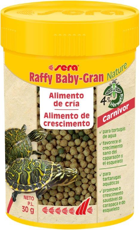 SERA Raffy Baby-Gran Nature 100ml (tortugas acuáticas carnívoras jóvenes)